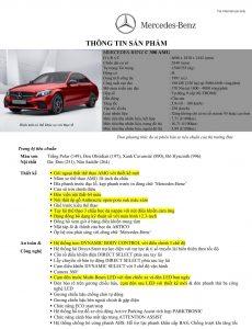 Thông số kỹ thuật Mercedes C300 AMG 2021