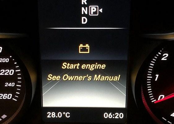 Chiếc xe Mercedes-Benz C200 của tôi hiển thị thông báo Start Engine See Owner's Manual là gì ?