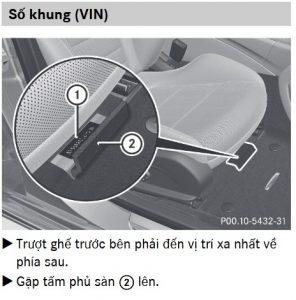 Số khung ( Số Vin) của xe Mercedes-Benz nằm ở đâu ?