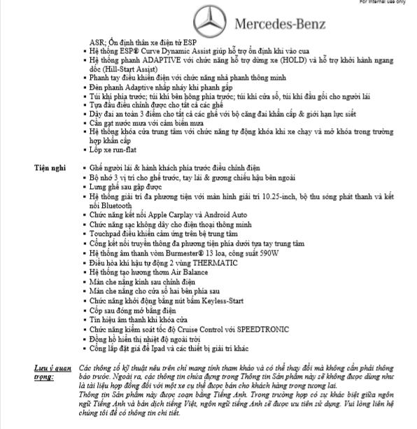 Thông số kỹ thuật Mercedes C200 exclusive 2021
