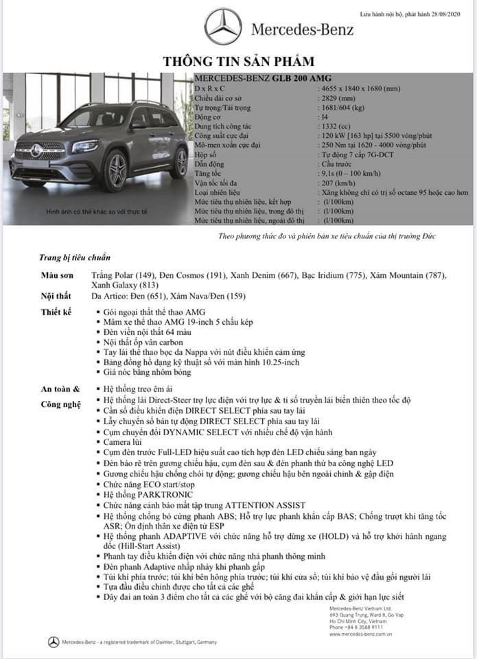 Mercedes-Benz GLB 200 AMG 2021 chính thức công bố