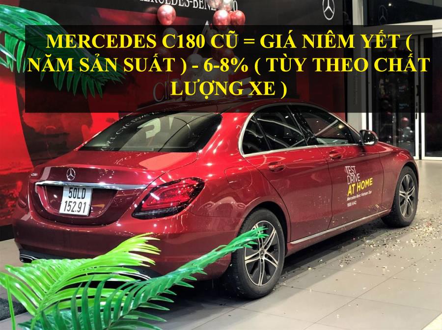 Mercedes C180 Cũ Giá Bao Nhiêu ? Tính giá như thế nào ?