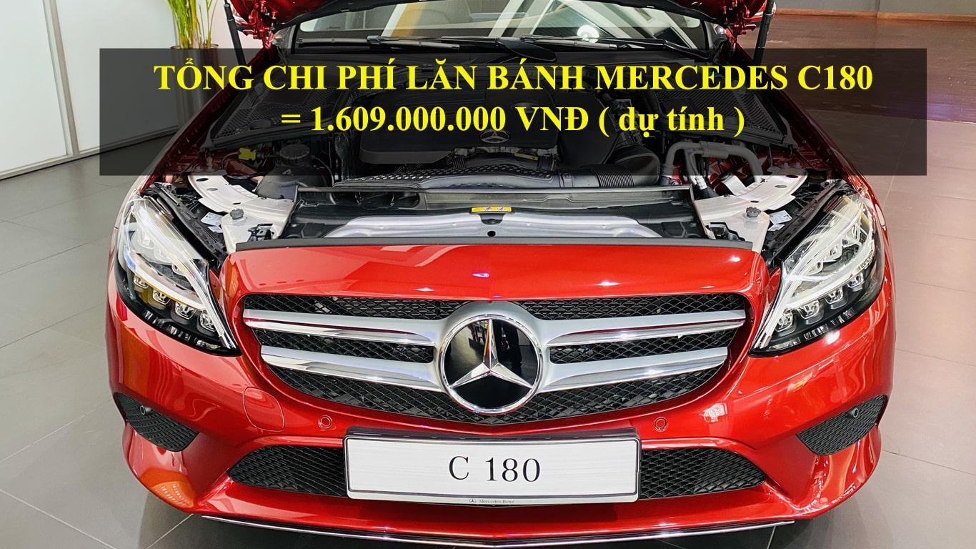 Mercedes C180 giá lăn bánh Hà Nội bao nhiêu tiền ?
