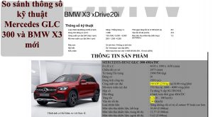So sánh thông số kỹ thuật Mercedes GLC 300 và BMW X3 mới