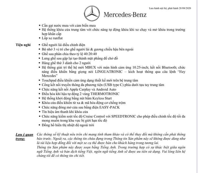 Thông số kỹ thuật Mercedes GLB 200 AMG 2021 chính thức