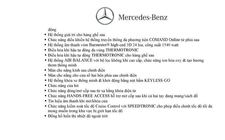 Thông số kỹ thuật Mercedes S500