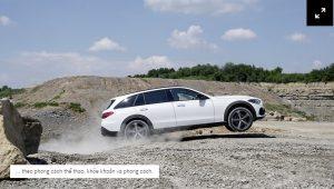 Mercedes C-Class All-Terrain 2022 mới trải nghiệm trên cánh đồng